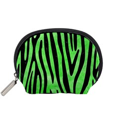 Skin4 Black Marble & Green Watercolor Accessory Pouches (small)  by trendistuff