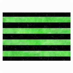 Stripes2 Black Marble & Green Watercolor Large Glasses Cloth by trendistuff