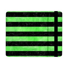 Stripes2 Black Marble & Green Watercolor Samsung Galaxy Tab Pro 8 4  Flip Case by trendistuff