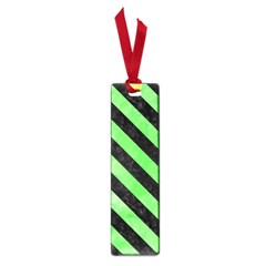 Stripes3 Black Marble & Green Watercolor (r) Small Book Marks by trendistuff