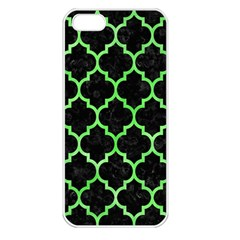 Tile1 Black Marble & Green Watercolor Apple Iphone 5 Seamless Case (white) by trendistuff