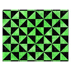 Triangle1 Black Marble & Green Watercolor Rectangular Jigsaw Puzzl by trendistuff