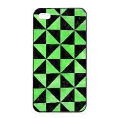 Triangle1 Black Marble & Green Watercolor Apple Iphone 4/4s Seamless Case (black) by trendistuff