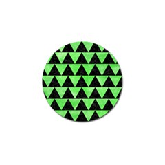 Triangle2 Black Marble & Green Watercolor Golf Ball Marker by trendistuff
