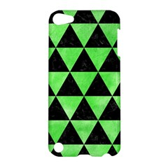 Triangle3 Black Marble & Green Watercolor Apple Ipod Touch 5 Hardshell Case by trendistuff