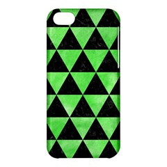 Triangle3 Black Marble & Green Watercolor Apple Iphone 5c Hardshell Case by trendistuff