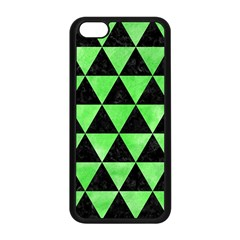Triangle3 Black Marble & Green Watercolor Apple Iphone 5c Seamless Case (black) by trendistuff