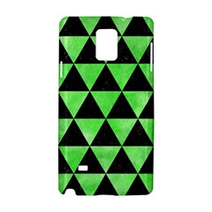Triangle3 Black Marble & Green Watercolor Samsung Galaxy Note 4 Hardshell Case by trendistuff