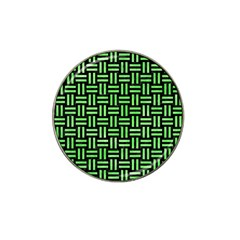 Woven1 Black Marble & Green Watercolor Hat Clip Ball Marker (4 Pack)