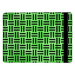 Woven1 Black Marble & Green Watercolor (r) Samsung Galaxy Tab Pro 12 2  Flip Case by trendistuff