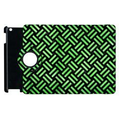 Woven2 Black Marble & Green Watercolor Apple Ipad 3/4 Flip 360 Case by trendistuff