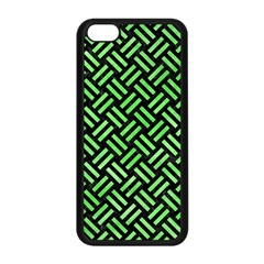 Woven2 Black Marble & Green Watercolor Apple Iphone 5c Seamless Case (black) by trendistuff
