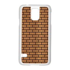 Brick1 Black Marble & Light Maple Wood (r) Samsung Galaxy S5 Case (white) by trendistuff