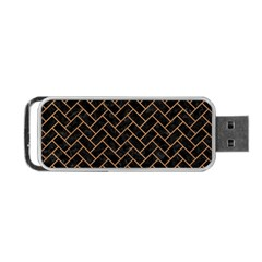 Brick2 Black Marble & Light Maple Wood Portable Usb Flash (two Sides) by trendistuff