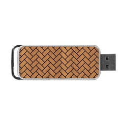 Brick2 Black Marble & Light Maple Wood (r) Portable Usb Flash (two Sides) by trendistuff