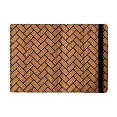 Brick2 Black Marble & Light Maple Wood (r) Apple Ipad Mini Flip Case by trendistuff