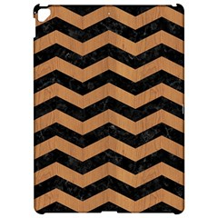 Chevron3 Black Marble & Light Maple Wood Apple Ipad Pro 12 9   Hardshell Case by trendistuff