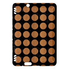 Circles1 Black Marble & Light Maple Wood Kindle Fire Hdx Hardshell Case by trendistuff