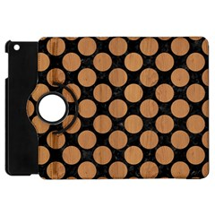 Circles2 Black Marble & Light Maple Wood Apple Ipad Mini Flip 360 Case by trendistuff