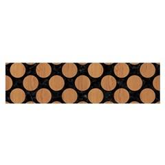 Circles2 Black Marble & Light Maple Wood Satin Scarf (oblong) by trendistuff