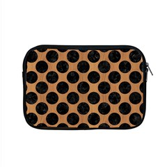 Circles2 Black Marble & Light Maple Wood (r) Apple Macbook Pro 15  Zipper Case by trendistuff