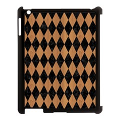 Diamond1 Black Marble & Light Maple Wood Apple Ipad 3/4 Case (black) by trendistuff