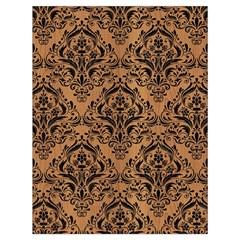 Damask1 Black Marble & Light Maple Wood (r) Drawstring Bag (large) by trendistuff