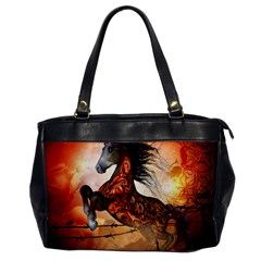 Awesome Creepy Running Horse With Skulls Office Handbags by FantasyWorld7