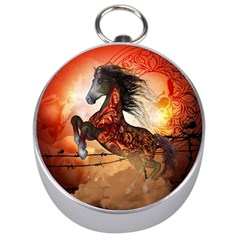 Awesome Creepy Running Horse With Skulls Silver Compasses by FantasyWorld7