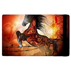 Awesome Creepy Running Horse With Skulls Apple Ipad Pro 12 9   Flip Case by FantasyWorld7