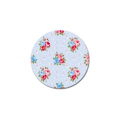 Cute Shabby Chic Floral Pattern Golf Ball Marker (4 Pack) by Love888