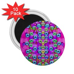 Festive Metal And Gold In Pop Art 2 25  Magnets (10 Pack)  by pepitasart