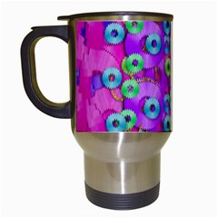 Festive Metal And Gold In Pop Art Travel Mugs (white) by pepitasart