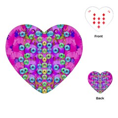 Festive Metal And Gold In Pop Art Playing Cards (heart)  by pepitasart
