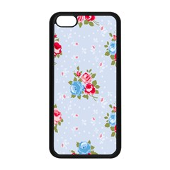 Cute Shabby Chic Floral Pattern Apple Iphone 5c Seamless Case (black) by 8fugoso
