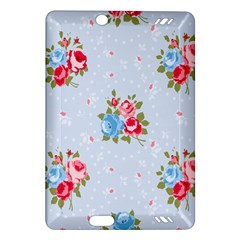Cute Shabby Chic Floral Pattern Amazon Kindle Fire Hd (2013) Hardshell Case by 8fugoso