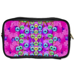 Festive Metal And Gold In Pop Art Toiletries Bags 2 Side by pepitasart
