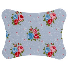 Cute Shabby Chic Floral Pattern Jigsaw Puzzle Photo Stand (bow) by 8fugoso
