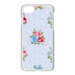 Cute Shabby Chic Floral Pattern Apple Iphone 7 Seamless Case (white) by Love888