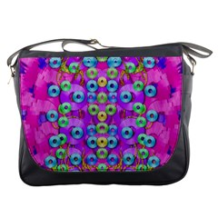 Festive Metal And Gold In Pop Art Messenger Bags by pepitasart