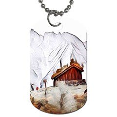 French Coffee Style Abstract Art Dog Tag (one Side) by 8fugoso