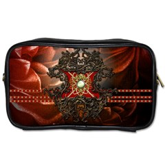 Wonderful Floral Design With Diamond Toiletries Bags 2 Side by FantasyWorld7