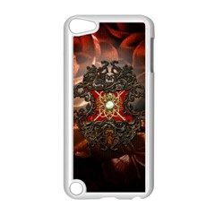Wonderful Floral Design With Diamond Apple Ipod Touch 5 Case (white) by FantasyWorld7