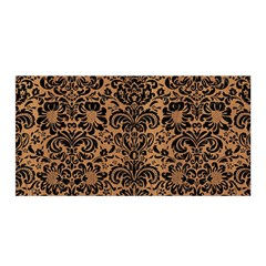Damask2 Black Marble & Light Maple Wood (r) Satin Wrap by trendistuff