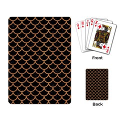 Scales1 Black Marble & Light Maple Wood Playing Card by trendistuff
