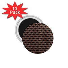 Scales2 Black Marble & Light Maple Wood 1 75  Magnets (10 Pack)  by trendistuff