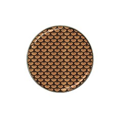 Scales3 Black Marble & Light Maple Wood (r) Hat Clip Ball Marker (4 Pack) by trendistuff