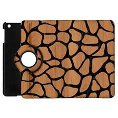 Skin1 Black Marble & Light Maple Wood Apple Ipad Mini Flip 360 Case by trendistuff