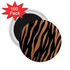 Skin3 Black Marble & Light Maple Wood 2 25  Magnets (100 Pack)  by trendistuff