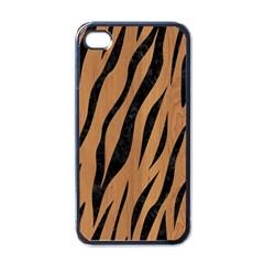 Skin3 Black Marble & Light Maple Wood (r) Apple Iphone 4 Case (black) by trendistuff